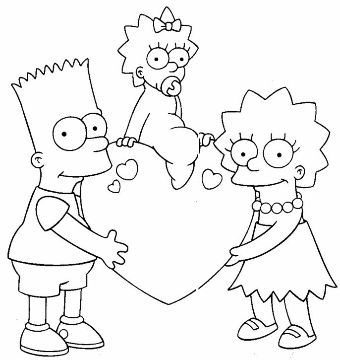 simpsons characters coloring pages printable